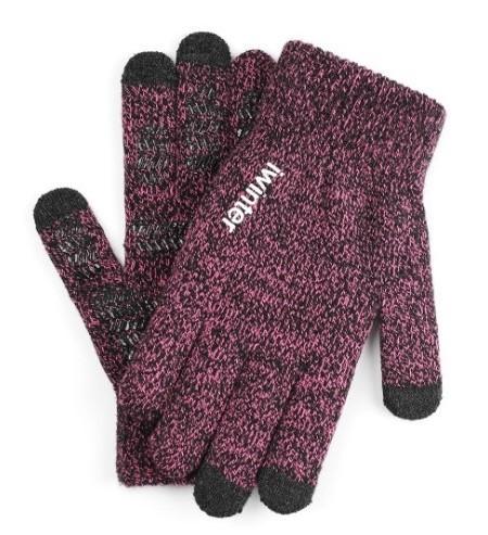 Перчатки женские сенсорные антискользящие iWinter pink ripple