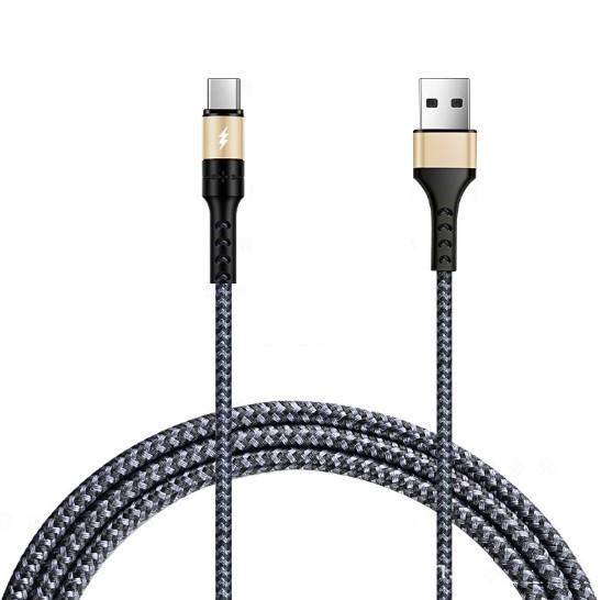 Кабель DATA BeFlex USB-Type C (1.2m) gray