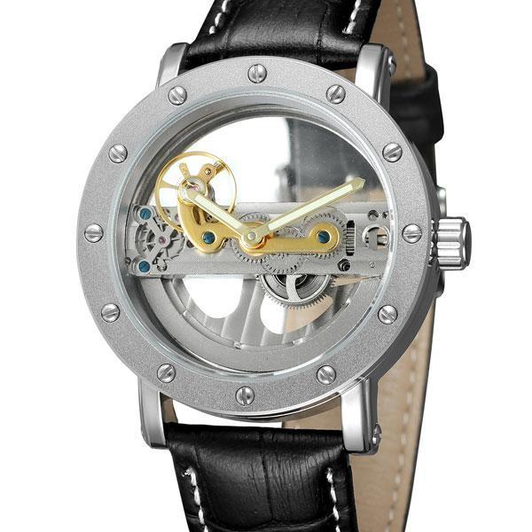 Механические часы Forsining Skeleton Air с автоподзаводом (silver)
