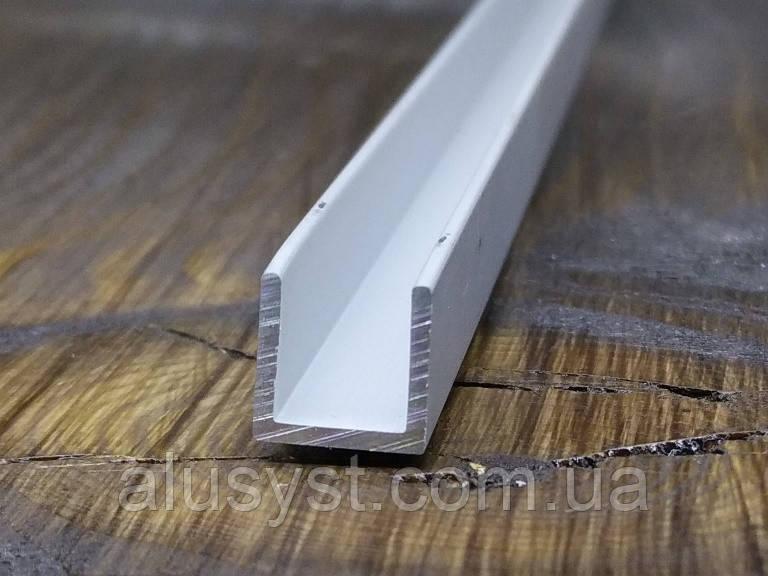 Алюминиевый швеллер 8х8х1| П профиль, Анод