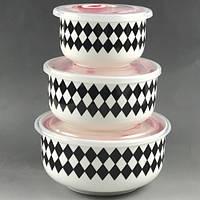 Салатники с крышкой 3пр/наб 300/450/1000мл MC2955 (12наб)