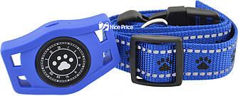 Водонепроникний GPS трекер для домашньої тварини (коти, собаки) D40 Синій