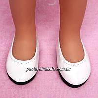 Туфли белые лаковые для кукол Паола Рейна