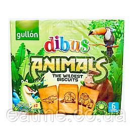 Gullon Dibus Animals Печенье с изображением зверей из шоколада
