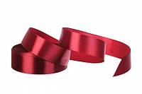 25 мм атласная лента бордовая  (23 м) 48