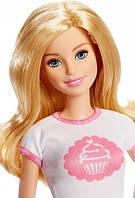 """Набор кукла Барби Блондинка серия """"Кем Быть?"""" Модное кафе Barbie DMC35 Mattel"""