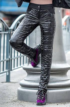 Черные зимние брюки на флисе из плащевки и дайвинга 42-50 р, фото 2