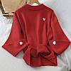 Романтичный свитер с мелкими сердечками 44-48 (в расцветках), фото 3