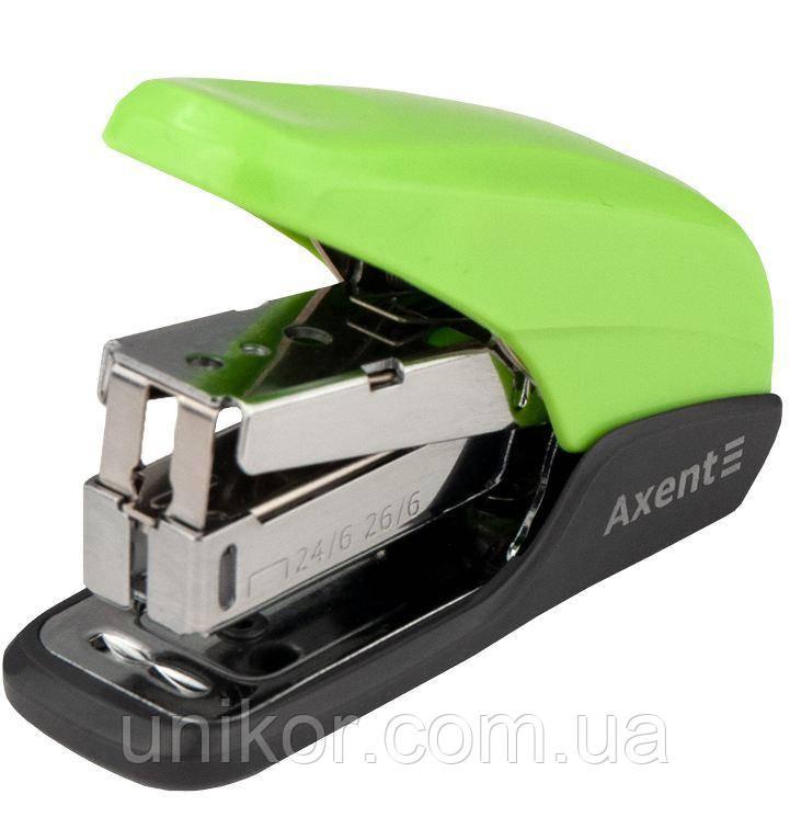 "Степлер 24/6, 20 листов, корп. пластиковый ""Shell PS"", ассорти. AXENT, фото 1"