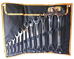 Набор профессиональных ключей рожково-накидных 6-32 мм, CrV, 12 шт., Richmann (C6344)