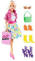 Кукла Ася блондинка с 4 парами обуви и аксессуарами, Люблю обувь, Ася