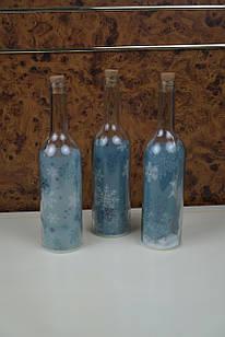 Світлодіодна прозора ваза пляшка led