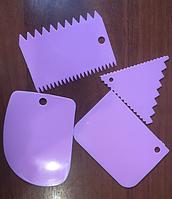 Набор Шпателей кондитерских  пластиковых 4 шт