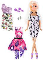 Кукла Ася с 3 нарядами и аксессуарами, Романтический стиль, Ася