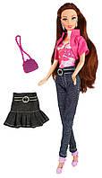 Кукла Ася с джинсами, юбкой и аксессуарами, Модный гардероб, Ася