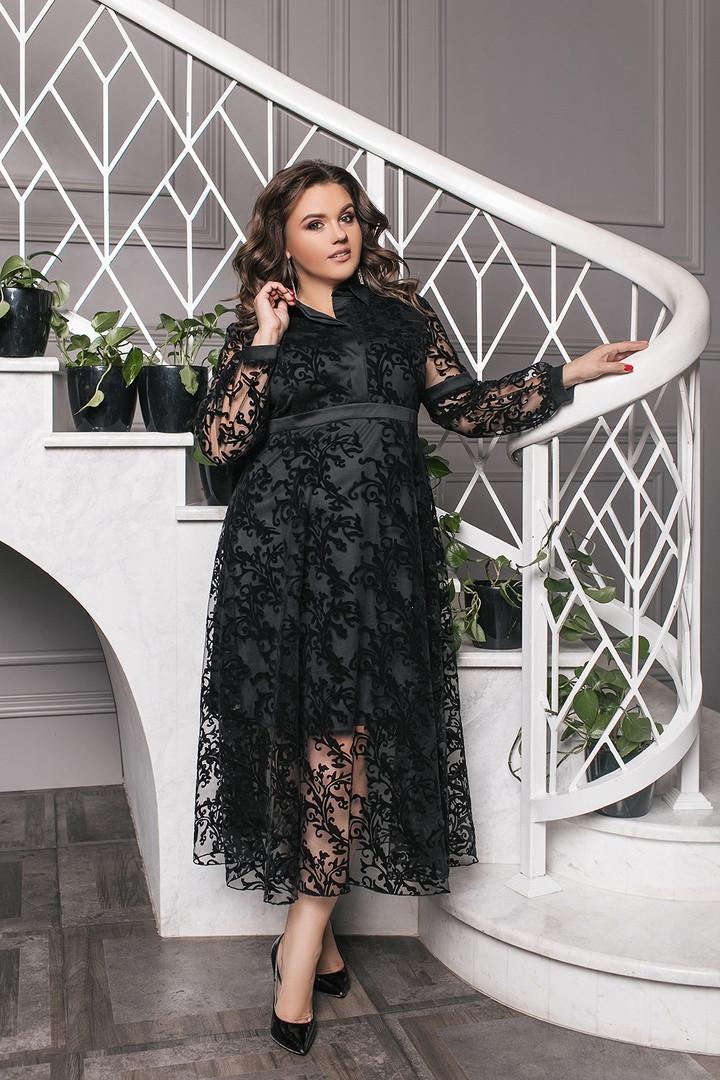 Жіноче довгий вечірнє плаття відмінно сидить на фігурі от50-до60р