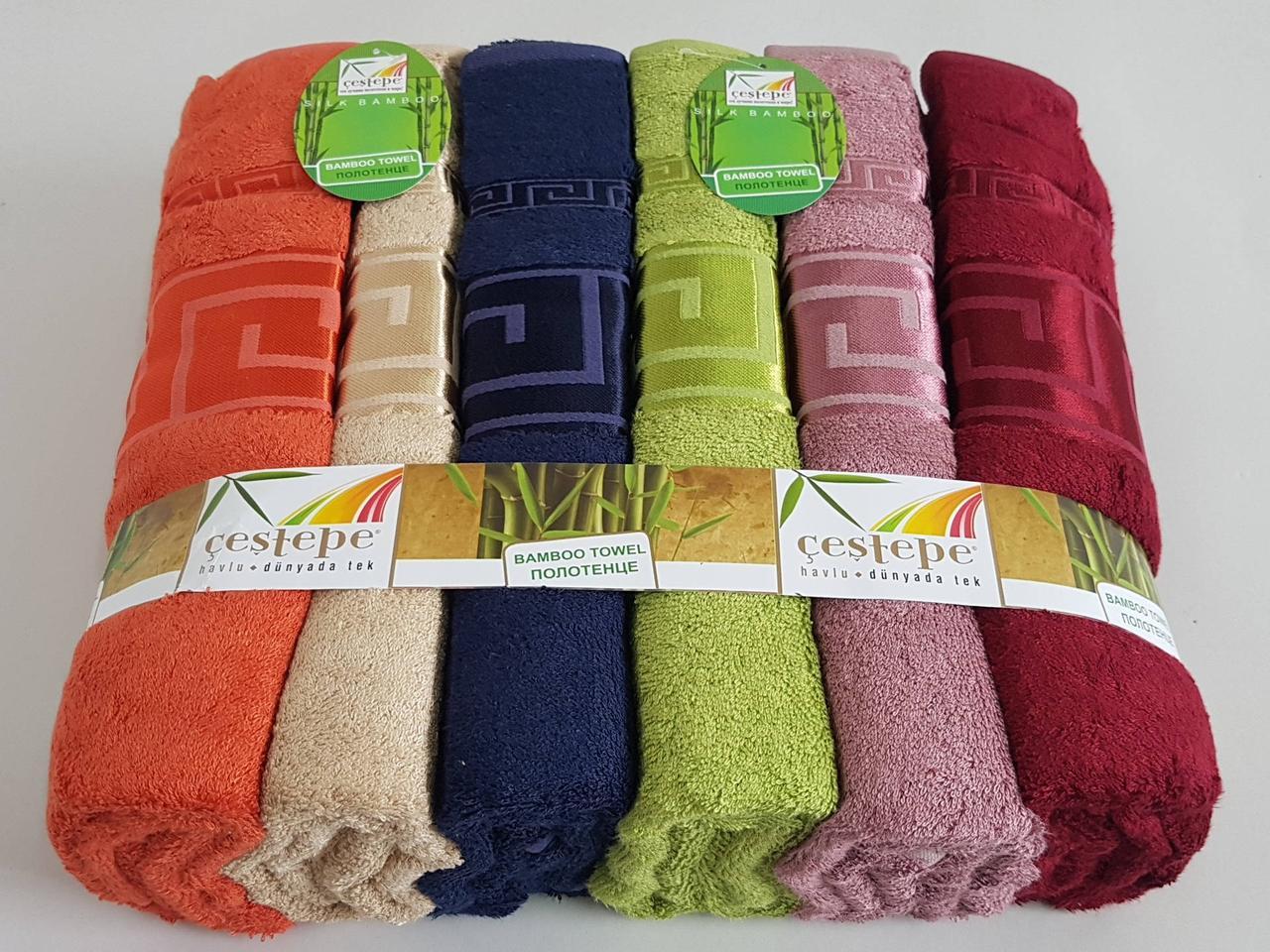 Бамбуковые банные полотенца «Cestepe Grek» Турция  (6 шт)