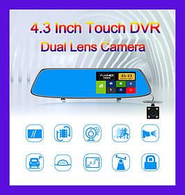 "Зеркало регистратор DVR L907 Full HD 4.3"" сенсорный экран"