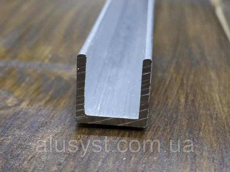 Швеллер алюминий 12х12х1,5  П образный профиль. Без покрытия, фото 1