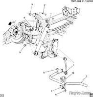 Стабилизатор задний GM 15057869