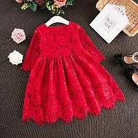 Кружевное платье для девочки размер 116.