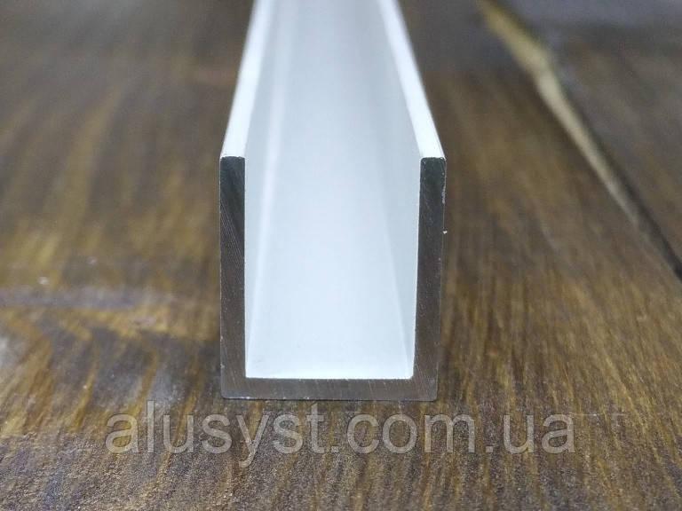 Алюминиевый швеллер 13х15х1,5| П профиль. Анод, фото 1