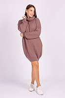 Туника свитер женская вязаная в расцветках  41120, фото 1