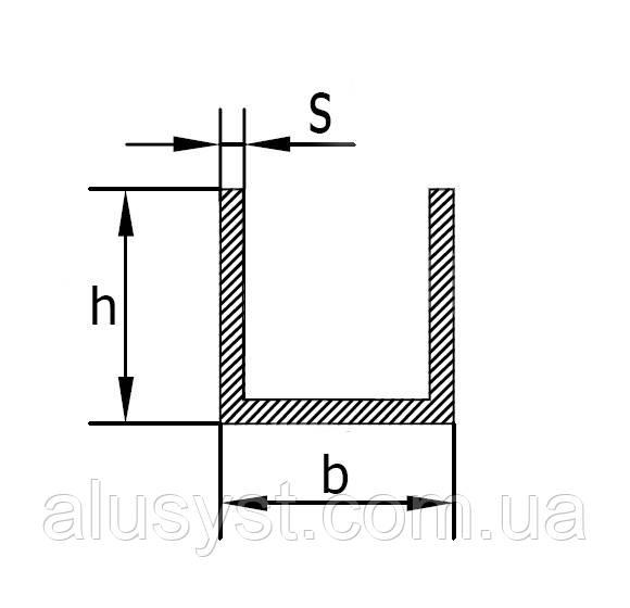 Алюминиевый швеллер 13х15х1,5| П профиль. Без покрытия