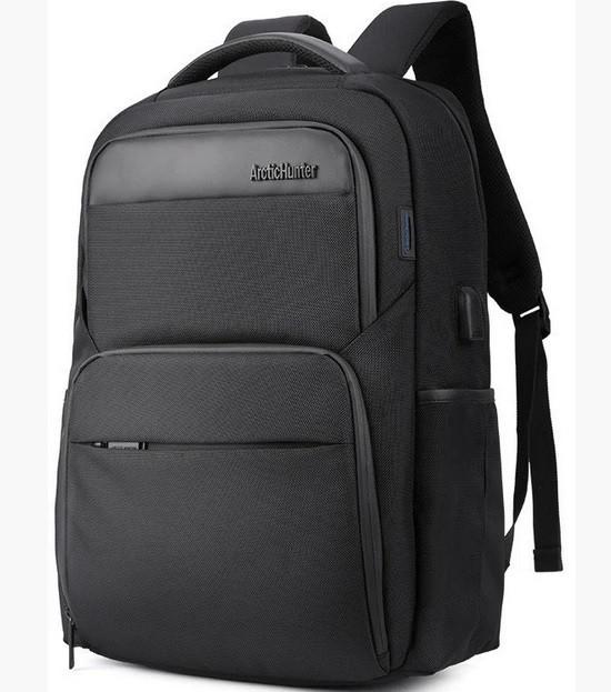 """Рюкзак дорожный для ноутбука до 15,6"""" Arctic Hunter 28л B00113С-черный"""