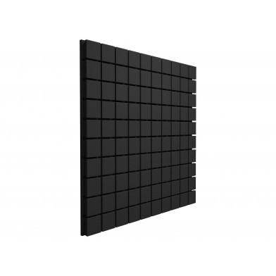 Панель из акустического поролона Ecosound Tetras Black 100x100 см, 20 мм, чёрный графит