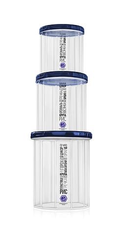 Набор емкостей для сыпучих продуктов — 3 шт, синяя крышка, объём — 1 л + 1.5 л + 2.0 л, фото 2