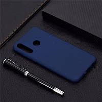 Чехол Soft Touch для Honor 10i силикон бампер темно-синий