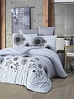 Комплект постельного белья полуторный Victoria «White Black» (поликоттон)