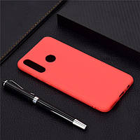 Чехол Soft Touch для Honor 10i силикон бампер красный