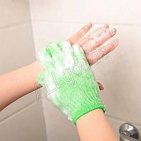 Перчатка мочалка для пилинга тела 1 шт ( малиновая)