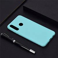 Чехол Soft Touch для Honor 10i силикон бампер мятно-голубой