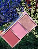 Палітра для макіяжу Ruby Rose Mini Kit рум'яна+хайлатер, фото 3