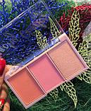 Палітра для макіяжу Ruby Rose Mini Kit рум'яна+хайлатер, фото 2