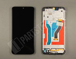 Дисплей Samsung А107 Black А10S 2019 (GH81-17482A) сервисный оригинал в сборе с рамкой, фото 2