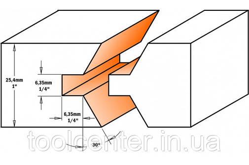 Фреза СМТ 40x25,4x12 шип-паз для мебельной обвязки, фото 2