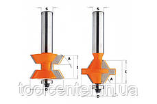 Фреза СМТ 40x25,4x12 шип-паз для мебельной обвязки