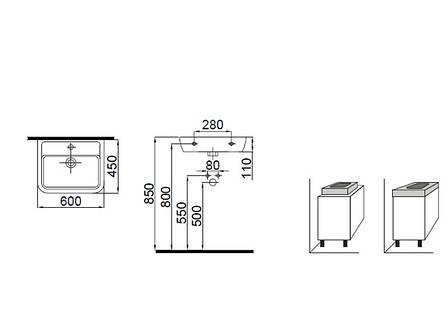 Halley Умывальник 60 см декор серебро 3201-0455-1201 IDEVIT, фото 2