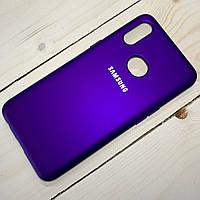 Силіконовий чохол Silicone Case Samsung Galaxy A10S (2019) Фіолетовий, фото 1
