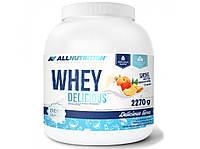 Протеин Whey Delicious, All Nutrition, белый шоколад с персиком, 2270 г