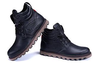 Мужские зимние кожаные ботинки в стиле Levis Stage 1 Black Night, фото 2