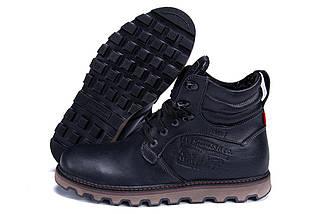 Мужские зимние кожаные ботинки в стиле Levis Stage 1 Black Night, фото 3