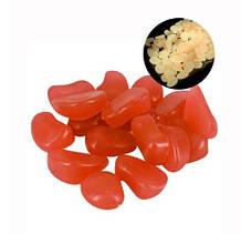 Набір люмінесцентних каменів - 10 штук в наборі (розмір одного каменю 1,5-2,5 см), помаранчеві