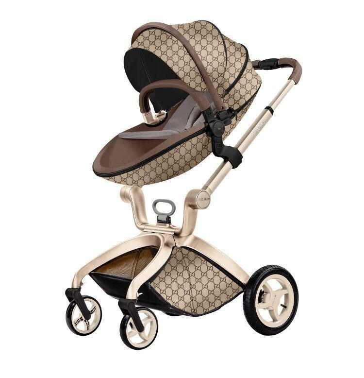 Детская коляска 2в1 Hot Mom Gucci Прогулочная и люлька