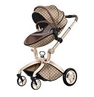 Детская коляска 2в1 Hot Mom Gucci Прогулочная и люлька, фото 1