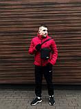 Куртка мужская зимняя красная Nike Найк (реплика), фото 2